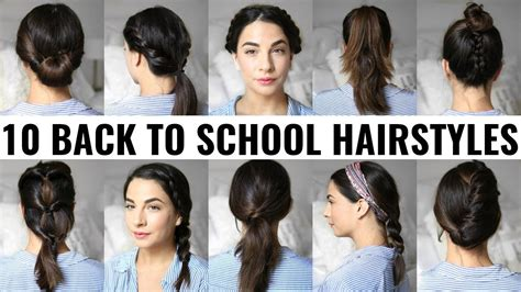 college hairstyles step by step 10 back to school heatless hairstyles youtube
