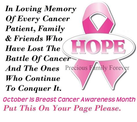 October Is Breast Cancer Awareness Month 2 by Breast Cancer
