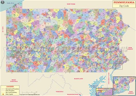 buy pennsylvania zip code map