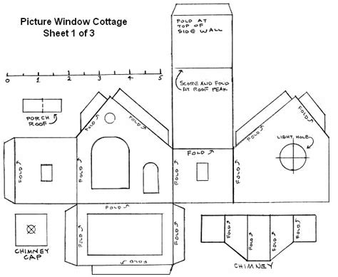 Galerry printable gingerbread house plans