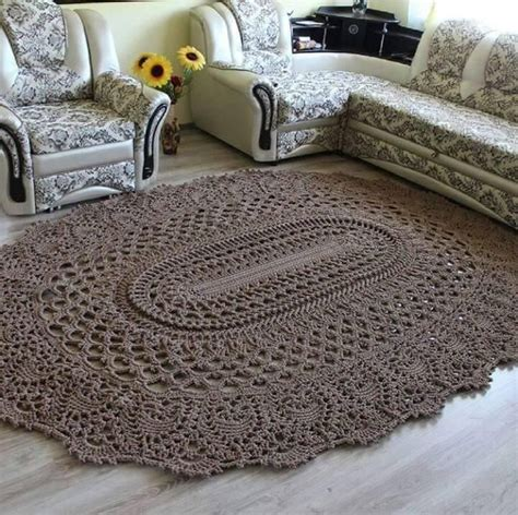 carpet crochet rug crochet brown rug brown rug crochet and brown