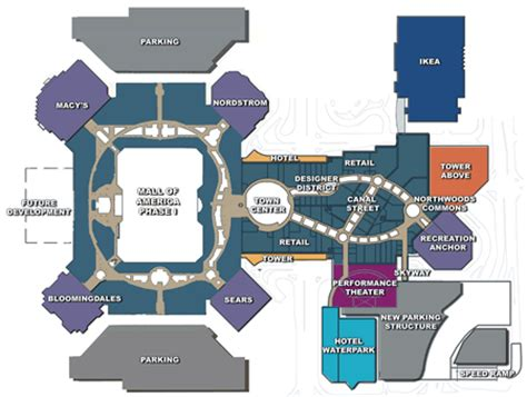 mall of america floor plan mall of america phase ii expansion da