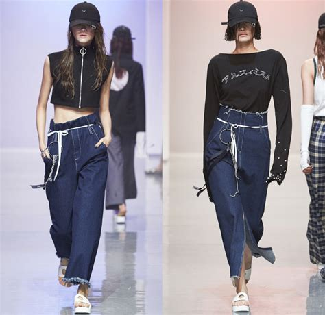 Korea Fashion 2016 r shemiste 2016 summer womens runway looks denim fashion week runway catwalks