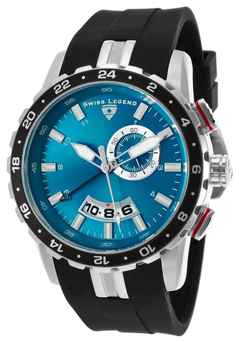 Fortuner Ad 1617 Rubber Black Blue swiss legend 10134 03 watches delta gmt black silicone