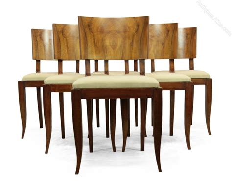 walnut dining room chairs art deco walnut dining chairs french c1930 antiques atlas