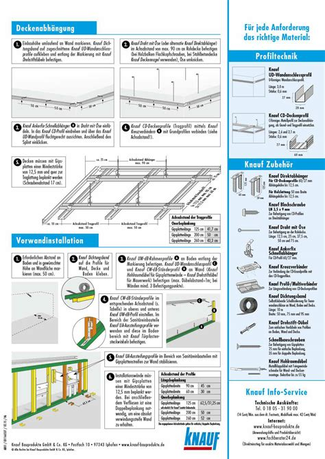 Lattenabstand Gipskartonplatten Decke by Knauf Rigips Decke Be34 Hitoiro