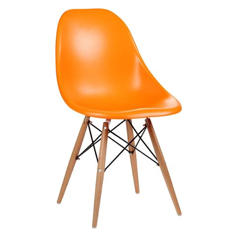 orange dining chairs eames inspired moulded orange dining chair
