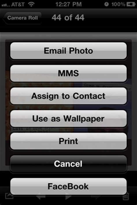 camera roll wallpaper tweak upload photos to facebook straight from your camera roll