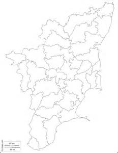 Tamilnadu Outline Map India by Tamil Nadu Free Map Free Blank Map Free Outline Map Free Base Map Outline Districts White
