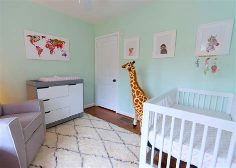 adventurous tastes a mint green animal themed nursery