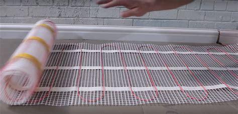 how to heat bathroom floor how to lay and install underfloor heating mats tile mountain