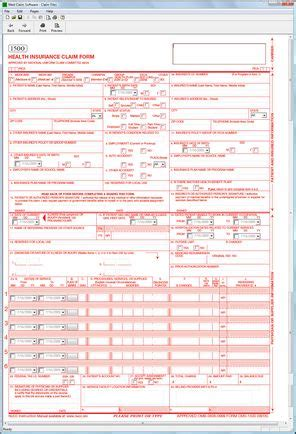 free cms 1500 form template cms 1500 software hcfa 1500 software at 69 only