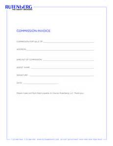 commission invoice template 10 best images of sales commission invoice sle real