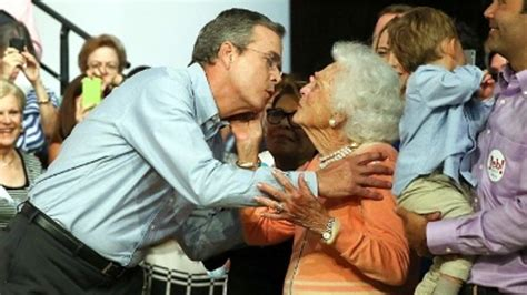 Barbara Bush Gets Robbed by Barbara Bush On Jeb I Think He Ll Be A Great President