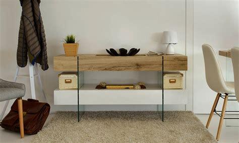 consolle in vetro per ingresso consolle in legno e vetro groupon goods