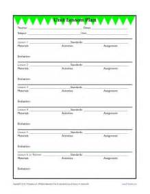 Lesson Plan Template Elementary School by Detailed Unit Lesson Plan Template Elementary Reading