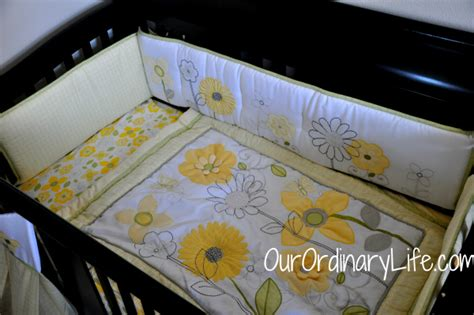 Nojo Baby Bedding Giveaway Our Ordinary Life Sunflower Crib Bedding