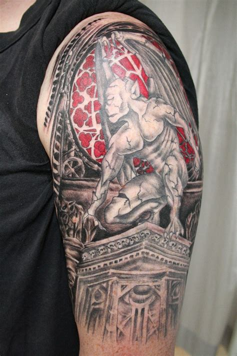 theme tattoo gargoyle theme by 2face on deviantart