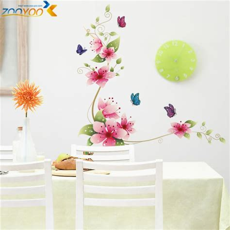 flower wall stickers for bedrooms aliexpress com buy 5designs small sakura flower wall