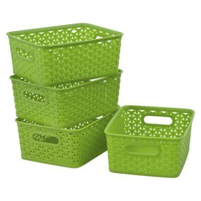 Storage Basket Green the world s catalog of ideas