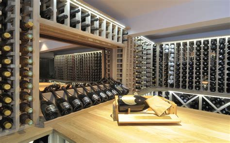 cellar ideas wine cellar made with oak carlo garn