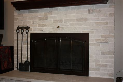 Transforming A Brick Fireplace by Brick Fireplace Transformation Traditional Living Room