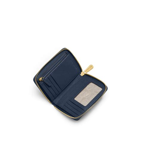 Michael Kors Travel Wallet Navy lyst michael kors jet set travel medium saffiano leather continental wallet in blue for