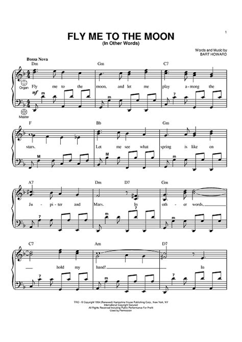 Comfort Eagle Chords by Piano Fly Me To The Moon Sheet Zoeken