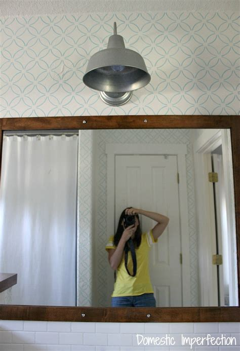 hanging mirror with lights bathroom remodel hanging the mirror light domestic