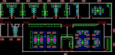 office module  dwg plan  autocad designs cad