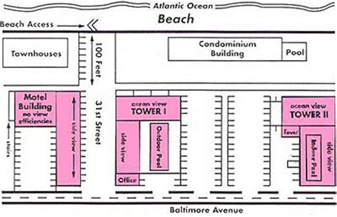 Flamingo Hotel Room Layout | layout downtown ocean city md motels flamingo motel