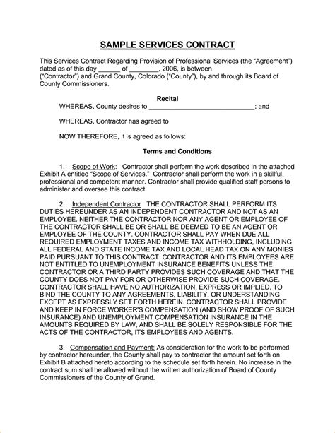 template service agreement 8 sle service contract timeline template