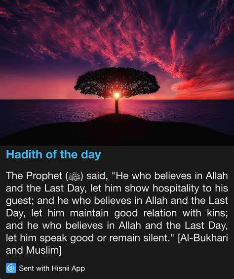 reality of day in islam hadith of the day hadith islam and