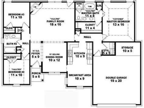 simple four bedroom house plans 4 bedroom 2 bath house plans 4 bedroom 4 bathroom house