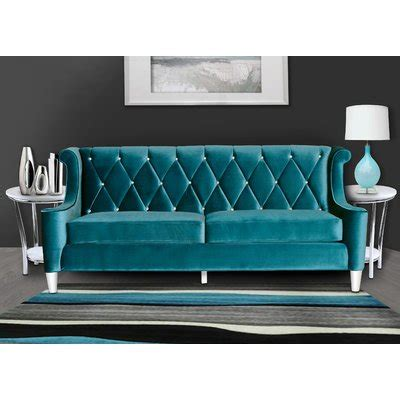armen living barrister sofa blue armen living barrister sofa reviews wayfair
