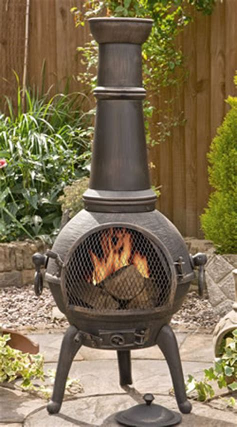 sierra bronze extra large cast iron chimenea fireplace