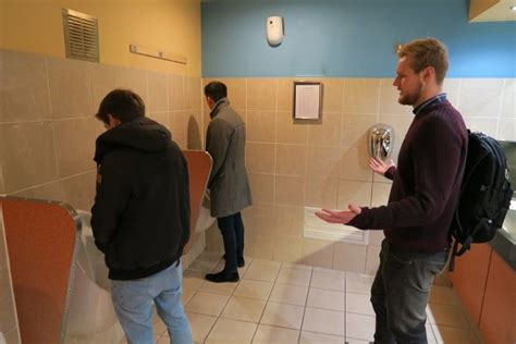 tumblr bathroom men a clever cape that help men get some privacy in a crowded