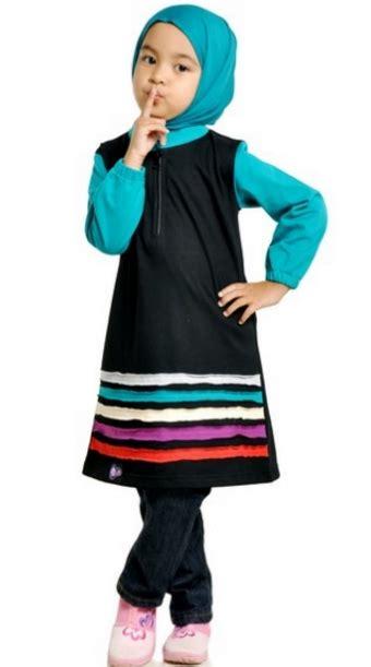trend model baju muslim anak perempuan syari