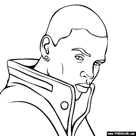 coloring chris brown and brown on pinterest