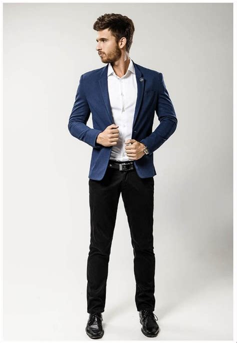 Casual In Navy Blue navy blue suit casual dress yy
