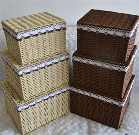 Small Wicker Drawers by Get Cheap Wicker Storage Drawers Aliexpress