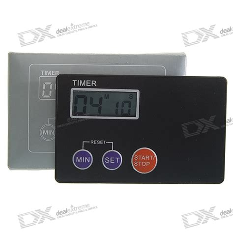 card digital credit card digital lcd kitchen buzzer timer w magnetic