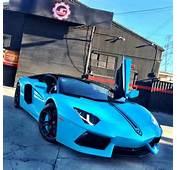 Chris Browns Lamborghini Aventador Surfaces In Baby Blue