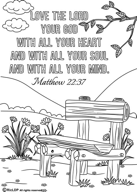 Coloring Page Pdf by 15 Bible Verses Coloring Pages
