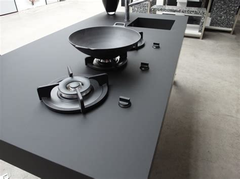 matte black countertop nanotech countertops kitchen studio of naples inc