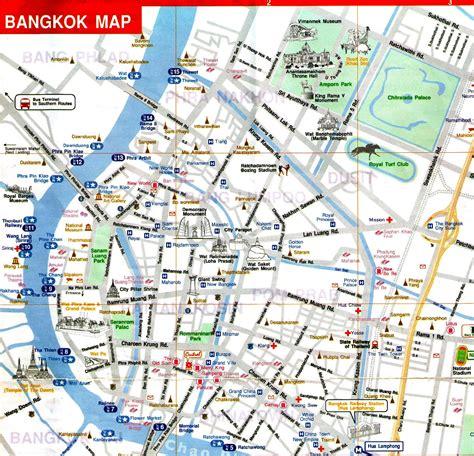 bangkok map map of bangkok thailand