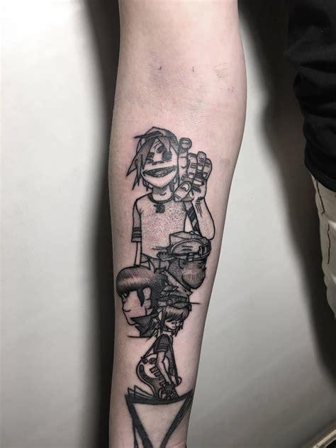 gorillaz tattoo designs pin by cal on tattoos tattoos beautiful