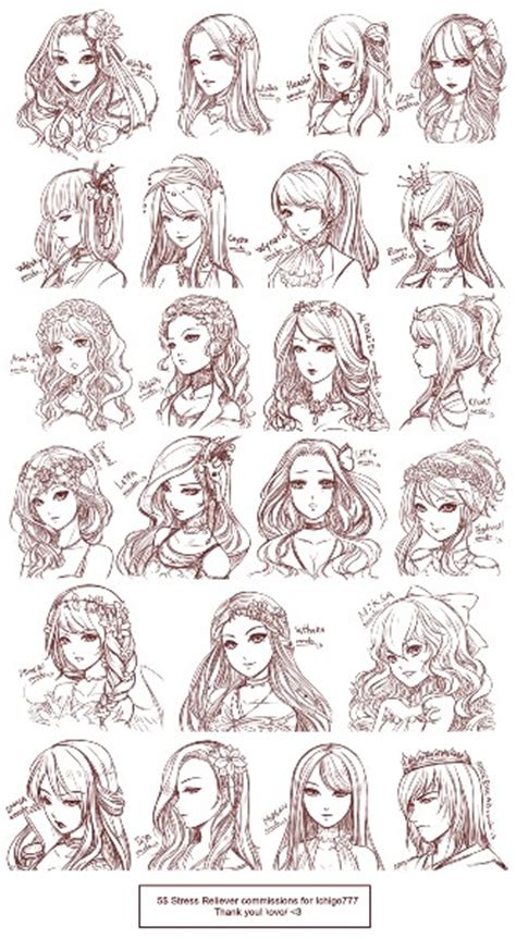 anime hairstyles ideas anime girl hairstyle anime hair style pinterest
