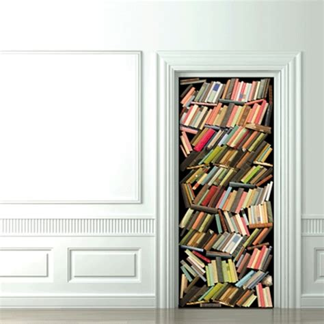 Book Door by The Terrier And Lobster Trompe L Oeil Book Wallpaper And