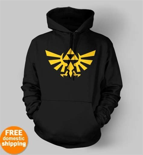 Hoodie Sweater Gamer Controller Black Front Logo legend of triforce yellow logo hoodie xbox purple hooded sweatshirt t shirts